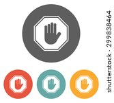 stop icon | Shutterstock .eps vector #299838464