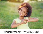 outdoor portrait of pretty... | Shutterstock . vector #299868230