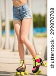close up of female legs in... | Shutterstock . vector #299870708