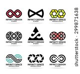 infinity symbols  5  | Shutterstock .eps vector #299871638