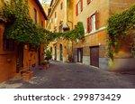 Old Street In Trastevere In...