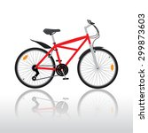 isolated bycicle illustration | Shutterstock .eps vector #299873603