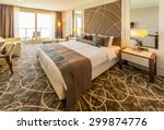 Stock photo hotel room with modern interior 299874776