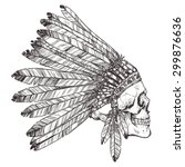 Hand Drawn Native American...