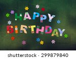 'happy birthday' letters on... | Shutterstock . vector #299879840