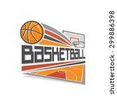 basketball shot in goal vector...   Shutterstock .eps vector #299886398