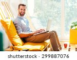 working with pleasure. side... | Shutterstock . vector #299887076