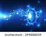 abstract vector electric... | Shutterstock .eps vector #299888039