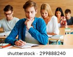 focused on exam. group of... | Shutterstock . vector #299888240