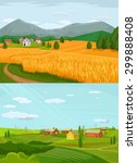 vector village flat... | Shutterstock .eps vector #299888408