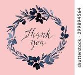 flower pattern. wedding.... | Shutterstock .eps vector #299894564