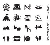 amusement park icons set | Shutterstock .eps vector #299895608