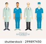 doctors and medical staff. set ... | Shutterstock .eps vector #299897450