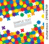 puzzle cover art. vector... | Shutterstock .eps vector #299898749