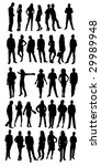silhouettes of casual people | Shutterstock .eps vector #29989948