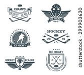 ice hockey labels and design... | Shutterstock .eps vector #299903630
