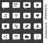 speech bubble icon set with... | Shutterstock .eps vector #299909270