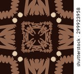 circular seamless  pattern of... | Shutterstock .eps vector #299923958