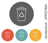 recycle bin icon | Shutterstock .eps vector #299927804