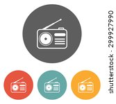 radio icon | Shutterstock .eps vector #299927990