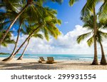 beautiful caribbean beach on... | Shutterstock . vector #299931554
