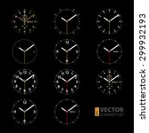 set of 11 modern smart watches...