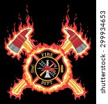 Firefighter Cross With Axes An...