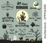 happy halloween design... | Shutterstock .eps vector #299936300