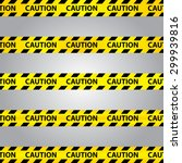 Caution Tape  Set Of Black And...