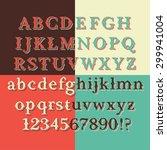 retro color vintage style font... | Shutterstock .eps vector #299941004