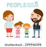 happy family   happy family... | Shutterstock .eps vector #299946398