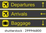 airport signs vector... | Shutterstock .eps vector #299946800