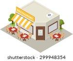 vector isometric restaurant... | Shutterstock .eps vector #299948354