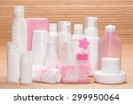 different cosmetic products for ... | Shutterstock . vector #299950064