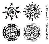 traditional maori taniwha...   Shutterstock .eps vector #299954873