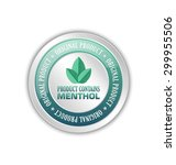 product contains menthol badge... | Shutterstock .eps vector #299955506