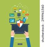 set of flat design vector... | Shutterstock .eps vector #299961560