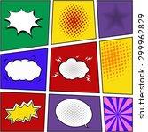 mid year sale    comic speech... | Shutterstock .eps vector #299962829