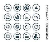 diagram icons universal set for ... | Shutterstock . vector #299968619