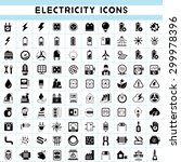 electricity icons set | Shutterstock .eps vector #299978396