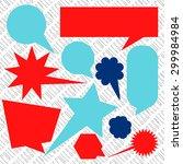speech bubble no word speech... | Shutterstock .eps vector #299984984