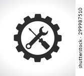 tools with gear service  logo... | Shutterstock .eps vector #299987510