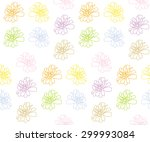 zinnia colorful seamless... | Shutterstock .eps vector #299993084