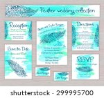 vector printable wedding...   Shutterstock .eps vector #299995700