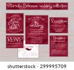 vector marsala printable... | Shutterstock .eps vector #299995709