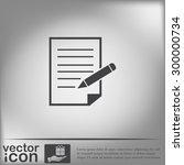 sheet of paper and pen   Shutterstock .eps vector #300000734
