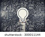 unrecognizable businesswoman... | Shutterstock . vector #300011144