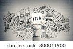 unrecognizable businesswoman... | Shutterstock . vector #300011900