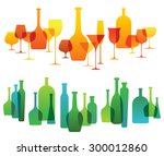 horizontal composition with... | Shutterstock .eps vector #300012860