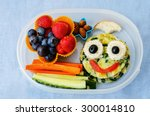 school lunch box for kids with... | Shutterstock . vector #300014810